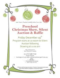 saint victor u0027s preschool christmas show silent auction and