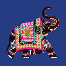 ornamental style elephant illustrations for a wedding cards jds