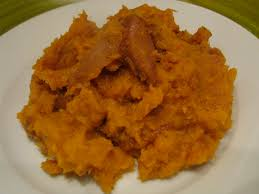 thanksgiving side dishes healthy recipe smashed sweet potatoes with caramelized apple topping