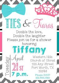 ties and tiaras baby shower birthday gender reveal twins