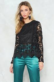 turquoise blouse lace to lace peplum blouse shop clothes at gal