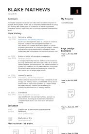 Photo Editor Resume Sample by Technical Editor Resume Samples Visualcv Resume Samples Database
