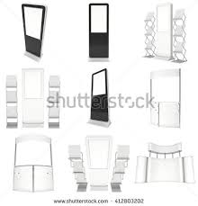 Pop Up Reception Desk Trade Show Booth White Blank 3d Stock Illustration 333061130