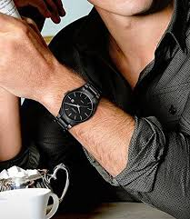 amazon com voeons all black steel band watches for