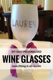 diy monogram wine glasses diy personalized wine glasses