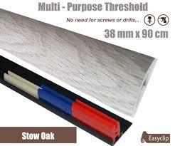 Laminate Flooring Threshold Trim Stowe Oak 38mmx 90cm Laminate Multi Purpose Transition Threshold