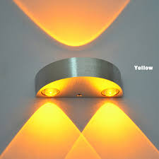 Yellow Wall Sconce Modern 3 Led Up Wall L Spot Light Sconce Lighting