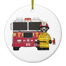 Fire Department Christmas Decorations fire engine christmas tree decorations u0026 ornaments zazzle co uk