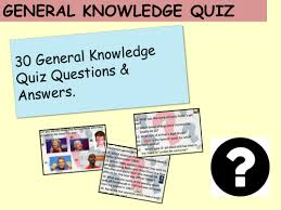 quiz 60 questions general knowledge by mmilne teaching resources