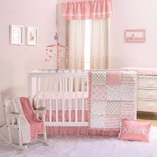 nursery beddings pink and gold nursery bedding sets plus cream