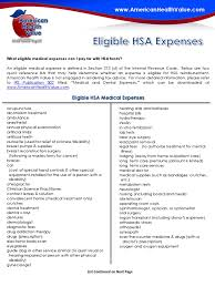 eligible hsa expenses medicare united states physician