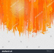 Orange Paint by Orange Grunge Paint Splashes Background Vector Stock Vector