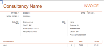 sle invoice contract work 10 simple customizable invoice templates every freelancer should use