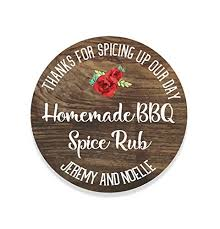wedding favor labels custom rustic wedding bbq spice rub labels wedding