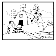 Printable Farm Color Pages 96 For Drawing With Farm Color Pages Farm Color Page