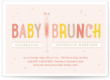 baby brunch invitations baby shower invitations minted