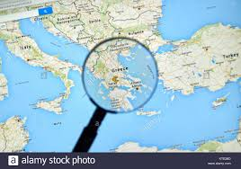 Greece On A Map Mapping Streets Stock Photos U0026 Mapping Streets Stock Images Alamy