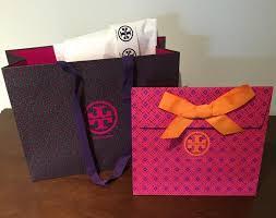 purple gift bags burch purple gift travel tote bag tradesy
