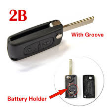 lexus key no battery key shell with groove blade for peugeot 307 citroen remote 2