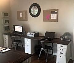 Two Person Reception Desk Best 25 2 Person Desk Ideas On Pinterest Two Home For Brilliant