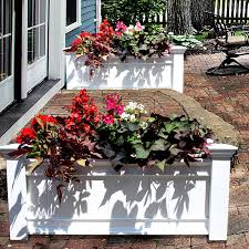 Walmart Planter Box by Dura Trel Large Rectangle Vinyl Cottage Planter Box Hayneedle