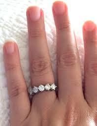 engagement ring vs wedding band solitaire vs moissonaite weddingbee
