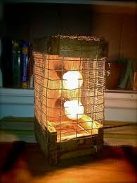 rustic table lamp accent lamp rustic wedding gift pallet