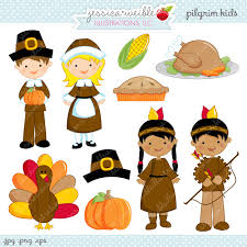 pilgrim digital clipart commercial use ok