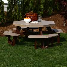 Design For Octagon Picnic Table by Luxcraft Crestville Octagon Picnic Table Luxcraft