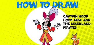 draw captain hook jake neverland pirates step