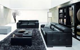 black leather sofa living room ideas minimalist black leather sofa living room furniture interior