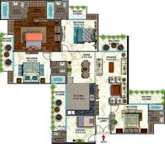 servant room design 3bhk with servants room plan interior design
