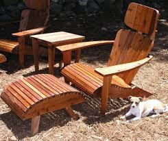 Chaise Lounge Plans Modern Adirondack Chair Set Headrest Ottoman And Side Chaise