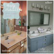 Oak Bathroom Cabinets by Bathroom Oak Vanity Makeover With Latex Paint Hometalk