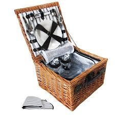 picnic basket for 2 2 person picnic basket set w cooler bag blanket wholesales direct