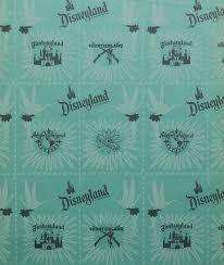 1955 disneyland gift wrapping paper id aprdisneyland17510