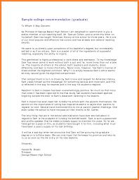 Recommendation Letter Sample For Teacher From Student Reference Letter To Grad Examples