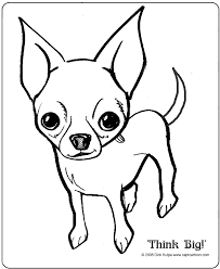 Chihuahua Dog Coloring Pages 2012003