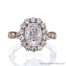 Cubic Zirconia Wedding Rings by Cubic Zirconia Cushion Cut Floral Engagement Ring My Faux Diamond
