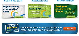 Busch Gardens Williamsburg Fall Fun Card - busch gardens williamsburg tickets busch gardens williamsburg