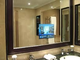tv in the mirror bathroom tv in a mirror bathroom bathroom behind mirror tv behind mirror