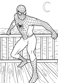 spiderman colouring pictures