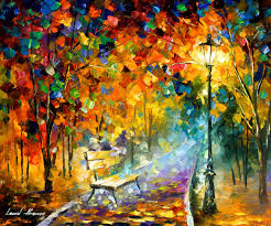 bench of lost love oil painting on canvas by leonid afremov 24