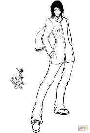 nathaniel anime boy by gabriela gogonea coloring page free
