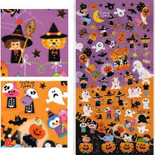 Halloween Stickers Kamio Wonderful Friends Happy Halloween Stickers With Golden Accents