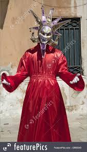 venetian costume venice italy april 10 2011 men in costume image