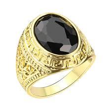 aliexpress buy mens rings black precious stones real mens ring texture engraving modelling simple precious black stones