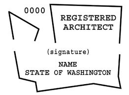 architect signature wa state licensing architect sts and seals