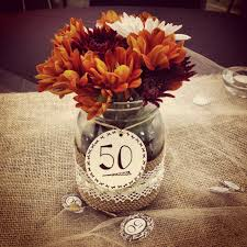 Photo Wedding Centerpieces by Our Table Centerpieces For My In Laws 50th Wedding Anniversary A
