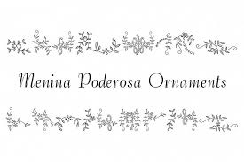 menina poderosa ornaments by intellecta font bundles